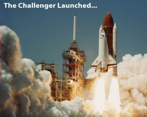 Challenger Spaceship Launched