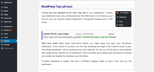 Wordpress Top Left Logo